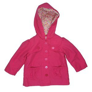 ☘️3/$30☘️ BABY Q Pink Hooded Rain Coat 18 mo